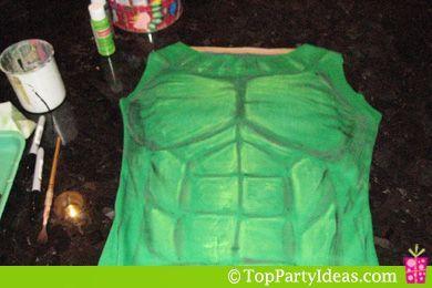 Hulk Costume for girls - add in medium shading