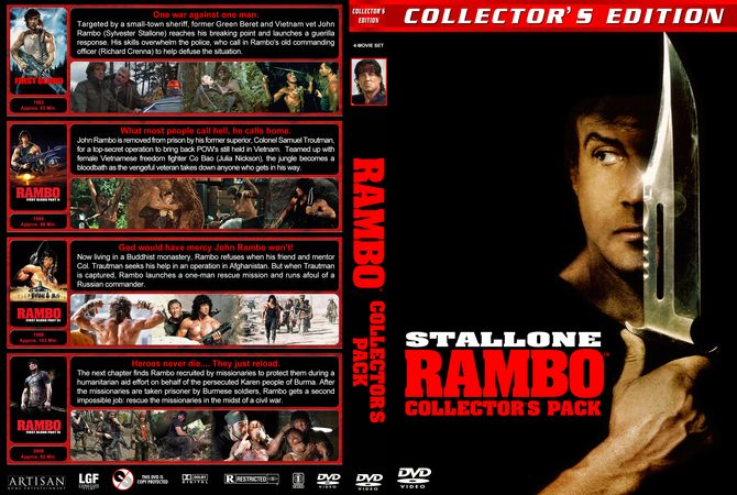 Rambo Collector's Pack DVD Custom Cover