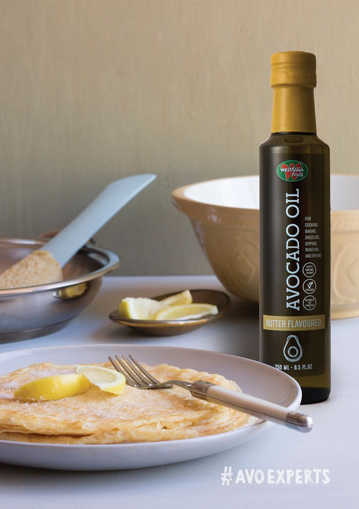 Westfalia Plain or Butter Flavoured Avocado Oil is perfect for baking or frying, making it ideal for pancakes or flapjacks.