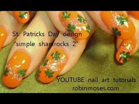 22 best nail art emo style images on pinterest ongles emo nail robin moses nail art simple shamrocks on red nails design prinsesfo Image collections