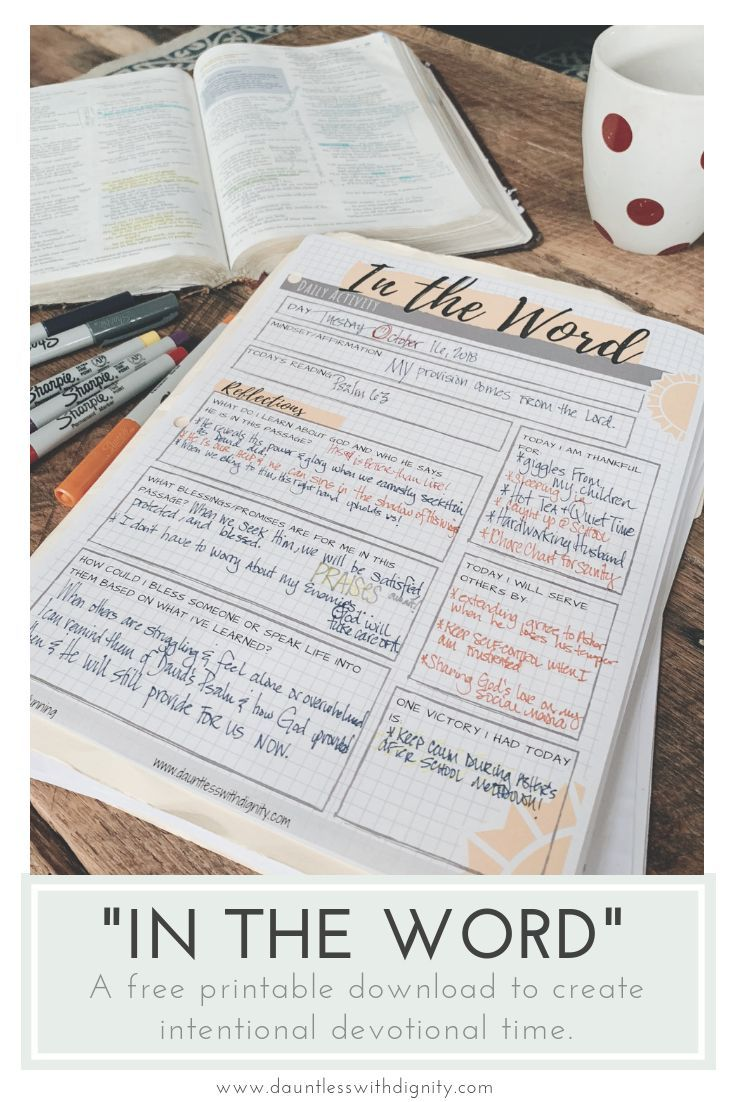 In The Word Free Printable Simply Dunn Bible Study Printables Bible Study Notebook Bible Study Activities