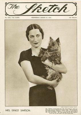 The Sketch: Wallis Simpson, wife of Edward VI, March 1935