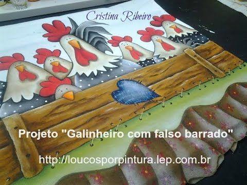 """Como pintar o projeto """"Galinheiro com Falso Barrado"""" - YouTube"""