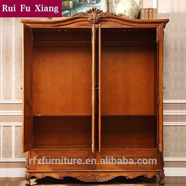 Antique francês armoire armário em madeira maciça i-209