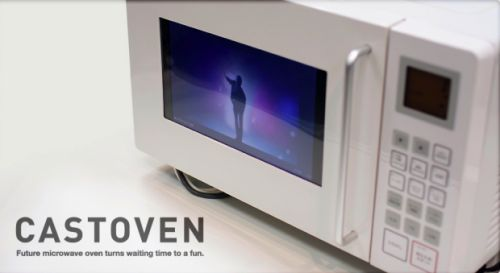Microwave with built-in YouTube player Lol