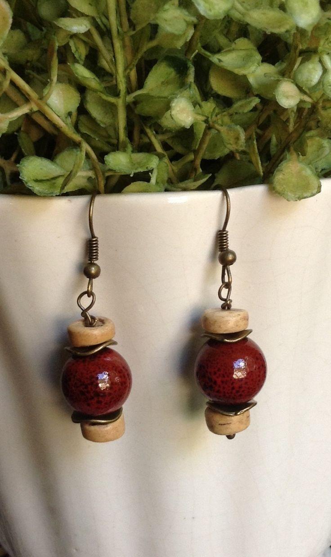 Fall Earrings...Dangle Earrings...Handmade... by 1840VintageLnJewelry on Etsy