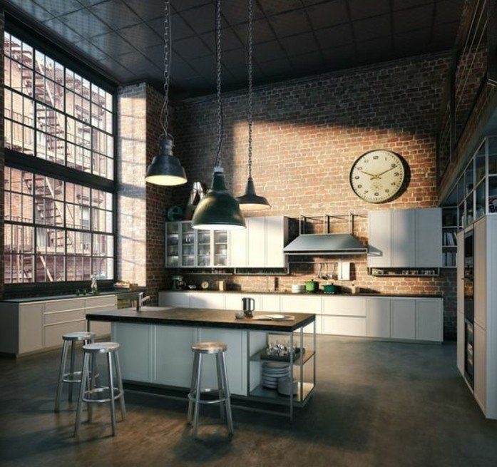 Meuble De Cuisine Style Industriel. Great Fabrication Ilt Central De ...