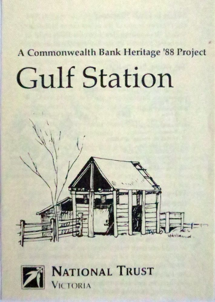Gulf Station '88 Project Victorian National Trust, vintage visitor brochure.