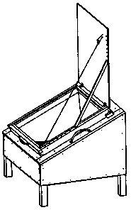 Four solaire de type boite à vitrage incliné