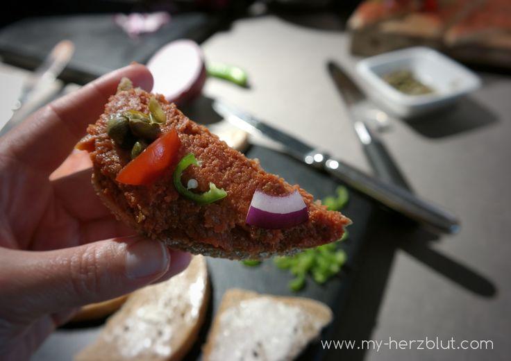 Veganes Tartar nach einem Rezept von Hiltl