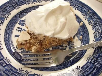 Ritz Cracker Pie  ~~  egg whites, sugar, baking powder, pecans, ritz crackers, vanilla, whipped cream