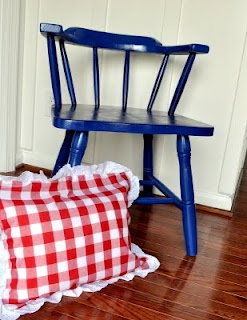 Cleverlyinspired: Oh Captain my Captain REDO my kitchen chairs...... hmmm what color?