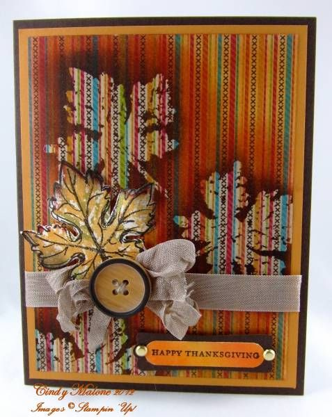 Autumn Leaves by discoverstampin - Cards and Paper Crafts at Splitcoaststampers