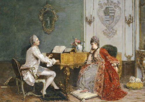 The Private Recital by Gerolamo Induno