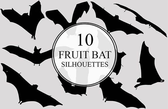 Fruit Bat Silhouettes Clipart Clip Art Fruit Bat Clip Art