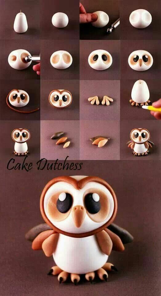 I did this for a Christmas cake and gave the owl a little santa hat and it…