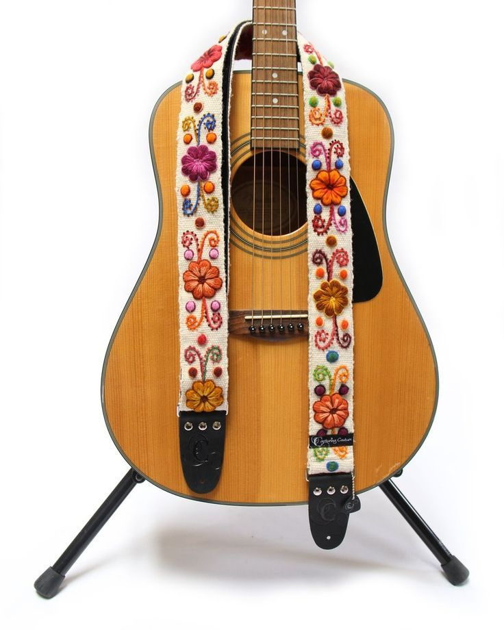 Hipstrap Haze Vintage Style Guitar Strap Leather Ends Jacquard Woven And Metal Hardware Handmade Guitar Straps Diy Guitar Guitar Strap