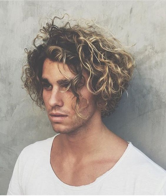 2017 Long Curly Hairstyles For Men 2017