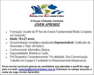 RH Manaus - Agência de Divulgação: JOVEM APRENDIZ