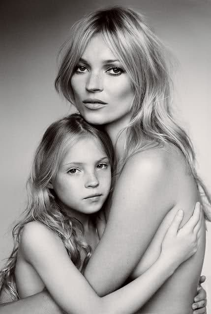 I want a mother/daughter portrait like this in black and white.