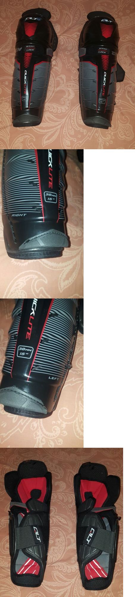 Pads and Guards 20856: Ccm Quicklite Qlt Hockey Shin Guards Senior Size 15 38Mm -> BUY IT NOW ONLY: $124.99 on eBay!