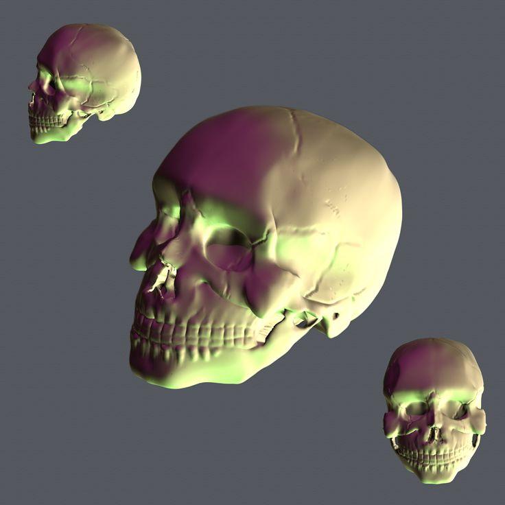 Skull created in Blender