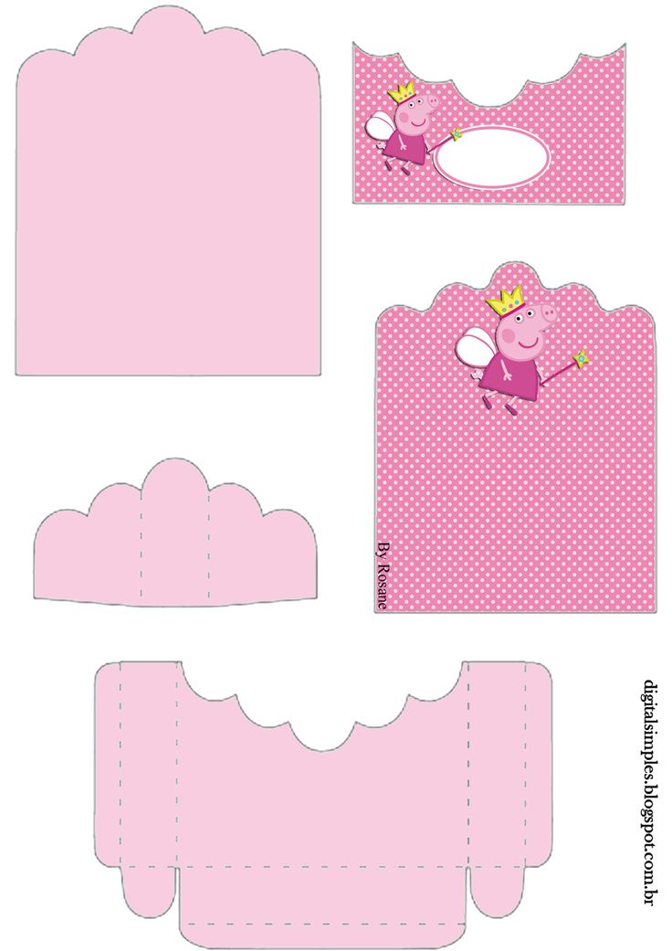 Peppa Pig Fairy: Free Printable Candy Package Supports.