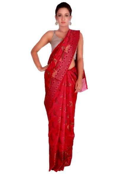 Woven Banrasi Chanderi Saree With #Love from #Banaras: the beauty of weaves from Banaras in the form of #beautiful #handmade #contemporary Chanderi #sarees. Starting @ INR 1575