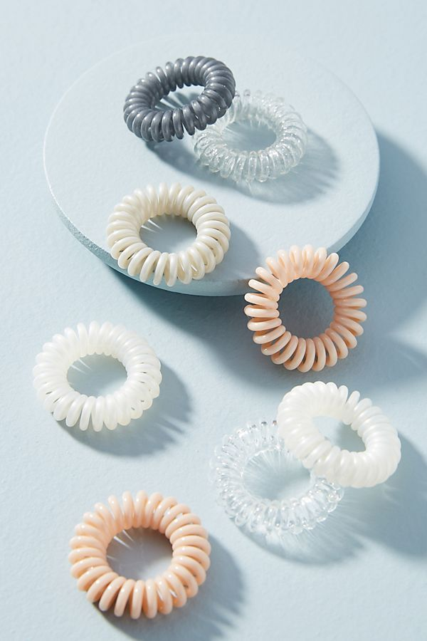 Slide View  1  Mini Coiled Hair Tie Set  8cceed1f392
