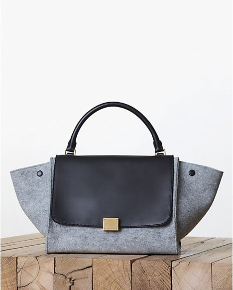 Celine Grey Felt Trapeze Bag - Fall 2013  96bcac541492d