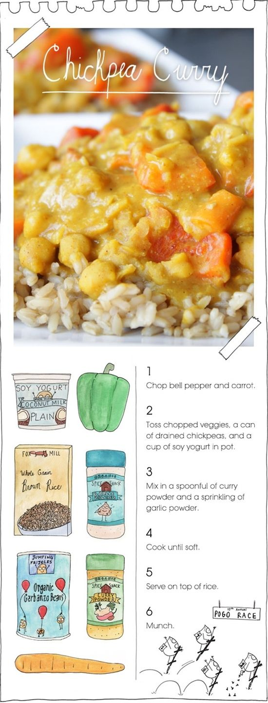 Yes, you can make yummy Indian channa curry! Swap in some garam masala for the curry powder and add something tomatoey (sauce, paste, crushed, diced) for a variation on channa masala.