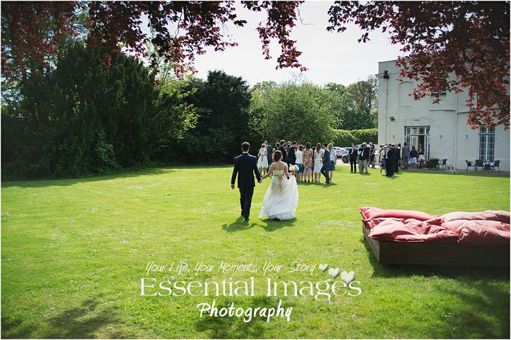 After we had taken the bride and groom for the 'just the two of them' photographs they rejoin their guests at #EastClose Country Hotel. Photography by http://www.newforestweddingphotographers.co.uk