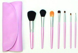Makeup Brushes Set, Cosmetic Brush Set with Pouch, Makeup Brushes Set with Case by Bonkers For Beauty. $9.95. Perfect for your purse, gym bag, desk and travel. Long lasting and easy to clean. 7 different size brushes for all of your beauty needs. Professional quality. All brushes fit in the pink case. The brushes are professional quality and soft to the touch and feel great on the skin! With 7 different shapes to choose for all of your beauty needs. They come in...