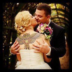 Las novias tatuadas mas bellas el dia de su boda