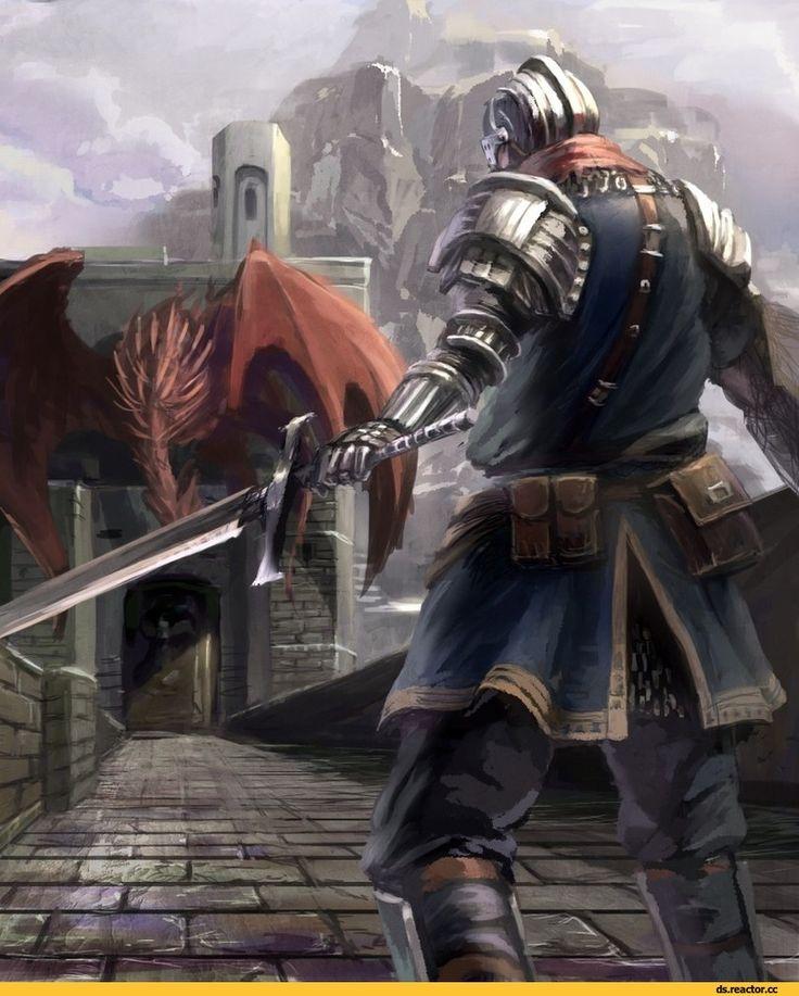 Dark Souls,фэндомы,DS art,hellkite dragon