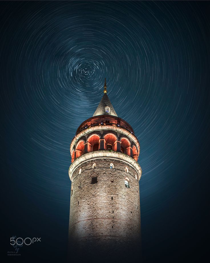 ~( G A L A T A )~ - Constructed in 1348, it was the tallest structure in the city , it still dominates the skyline north of the Golden Horn. upper balcony offers 360-degree views of the amazing city, The Galata Tower called  Christea Turris by the Genoese — is a medieval stone tower  Height: 63 m great to visit & have some shot .  #sky #city #street #travel #night #light #tower #istanbul #tourism #architecture #cityscape