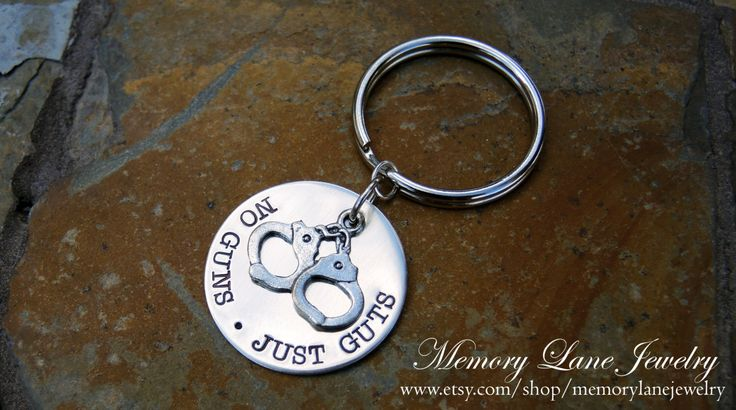 Correctional Officer/Corrections Officer/Prison Guard/Prison Officer/Detention Officer Key Chain - No Guns Just Guts by MemoryLaneJewelry on Etsy https://www.etsy.com/listing/178983867/correctional-officercorrections