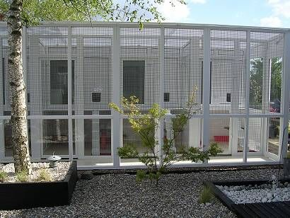 cattery with penthouse sleeping accommodation