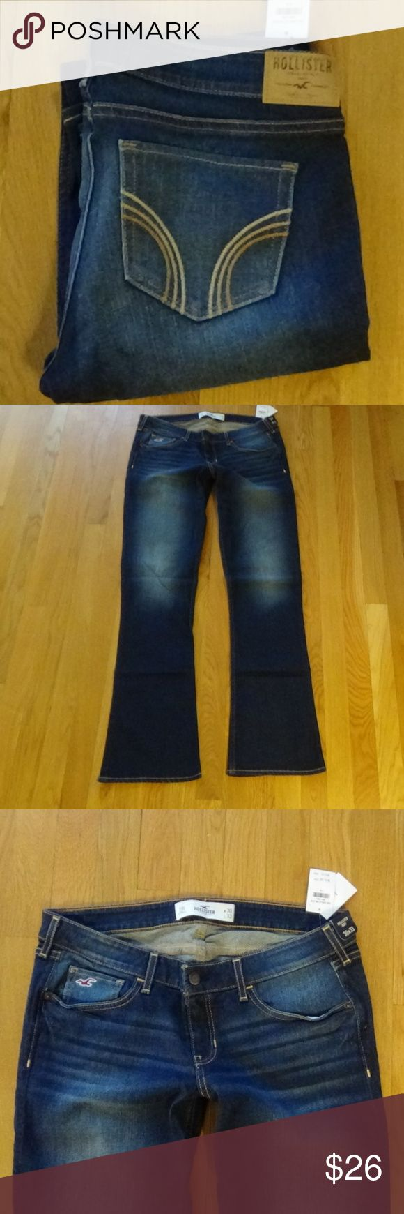 """NWT Sexy Hollister Boot Jeans - 11 R NWT Sexy Hollister Boot Jeans - 11 R - 98% Cotton; 2% Elastine - Waist 33""""; Rise 7 1/2""""; Inseam 33""""  Please don't ask about different pricing in the comments - I will not discuss this in this area. Please use the OFFER button to make any offer as this shows your commitment to stand behind your negotiation. I may accept the offer, I may counteroffer, or decline. Hollister Jeans Boot Cut"""