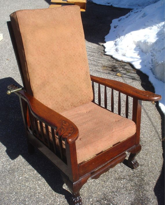 600 ANTIQUE MORRIS CHAIR Lions Paws Feet by CelestialReCreations - 119 Best Antique Morris Chairs Images On Pinterest Antique