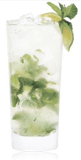 SKINNYGIRL CUCUMBER REFRESHER 4 mint leaves 1 large basil leaf 1 lime ...
