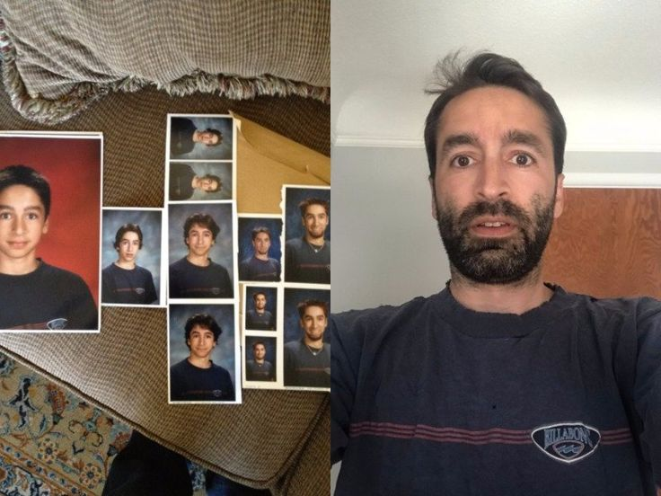 This guy wore the same t-shirt in every yearbook photo for 7 years and the internet can't stop laughing