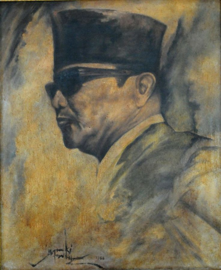 """Ir. Soekarno"" ( Indonesian first President) by Basoeki Abdullah"