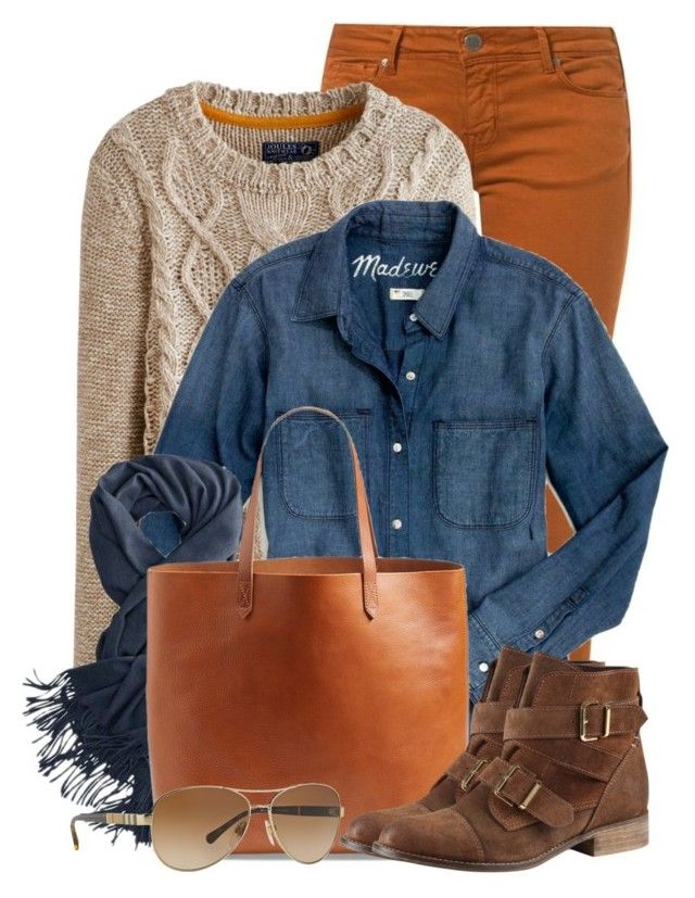 """""""Bright Pants for Fall"""" by brendariley-1 ❤ liked on Polyvore featuring CIMARRON, Joules, Madewell, ALDO and Burberry"""