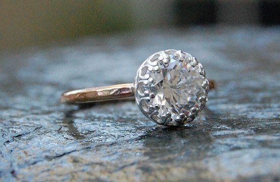 Cubic Zirconia Engagement Ring ($50)