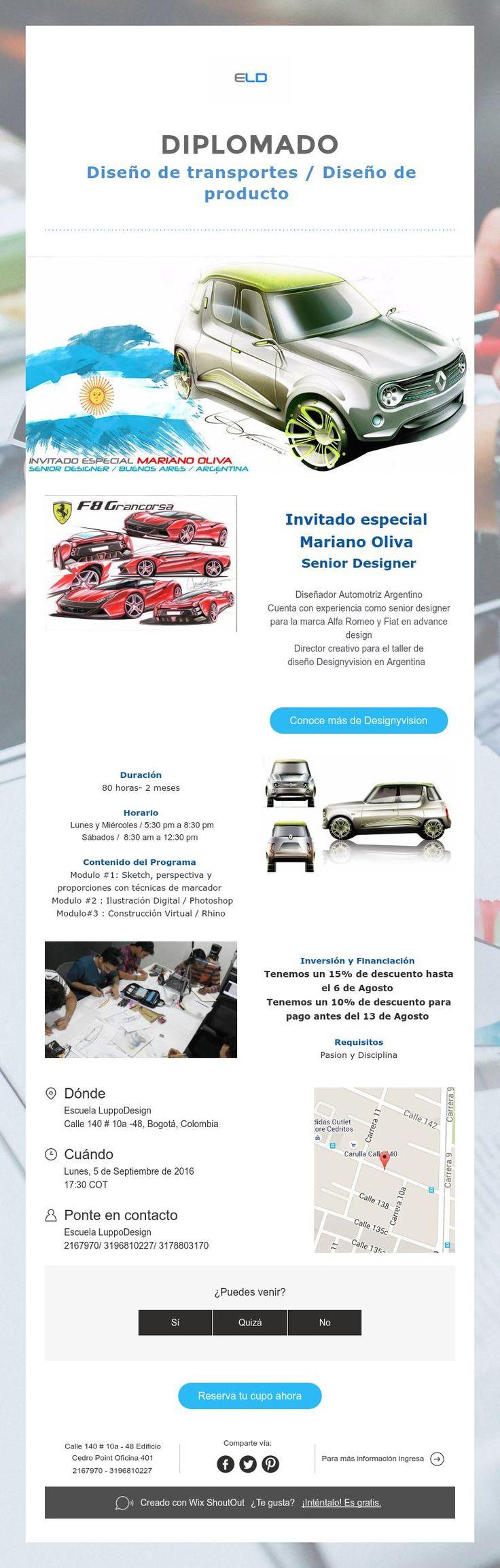 DIPLOMADO  Diseño de transportes / Diseño de producto