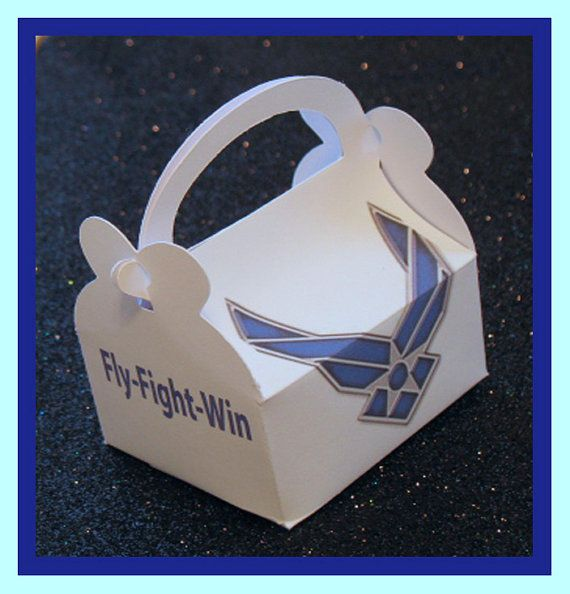 Air Force party favor boxes Air Force promotion by tinygiftboxes, $1.35