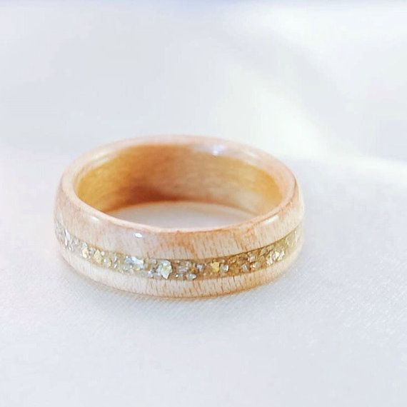 Hey, I found this really awesome Etsy listing at https://www.etsy.com/listing/239144955/wood-ring-wooden-wedding-band-hybrid