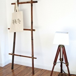 #DIY your own bamboo ladder - LOVE!!!  @Apryl Stafford Square  #abird'sleap