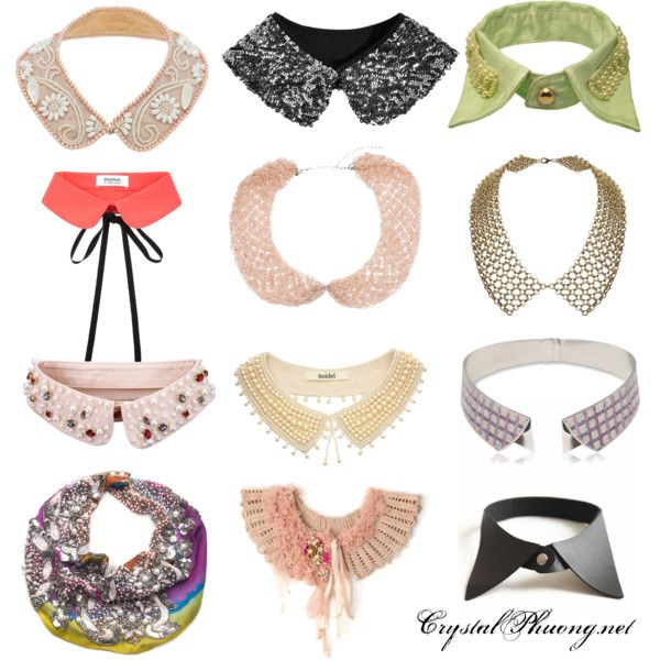 DIY Collars inspiration #fashion #accessories #collars #necklace #diy